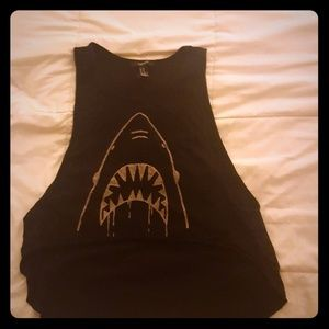 Forever 21 jaws muscle tee